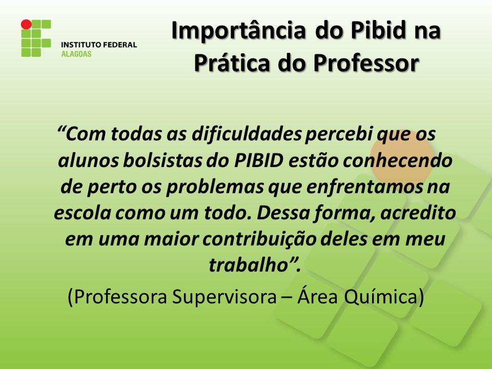 Importância do Pibid na Prática do Professor