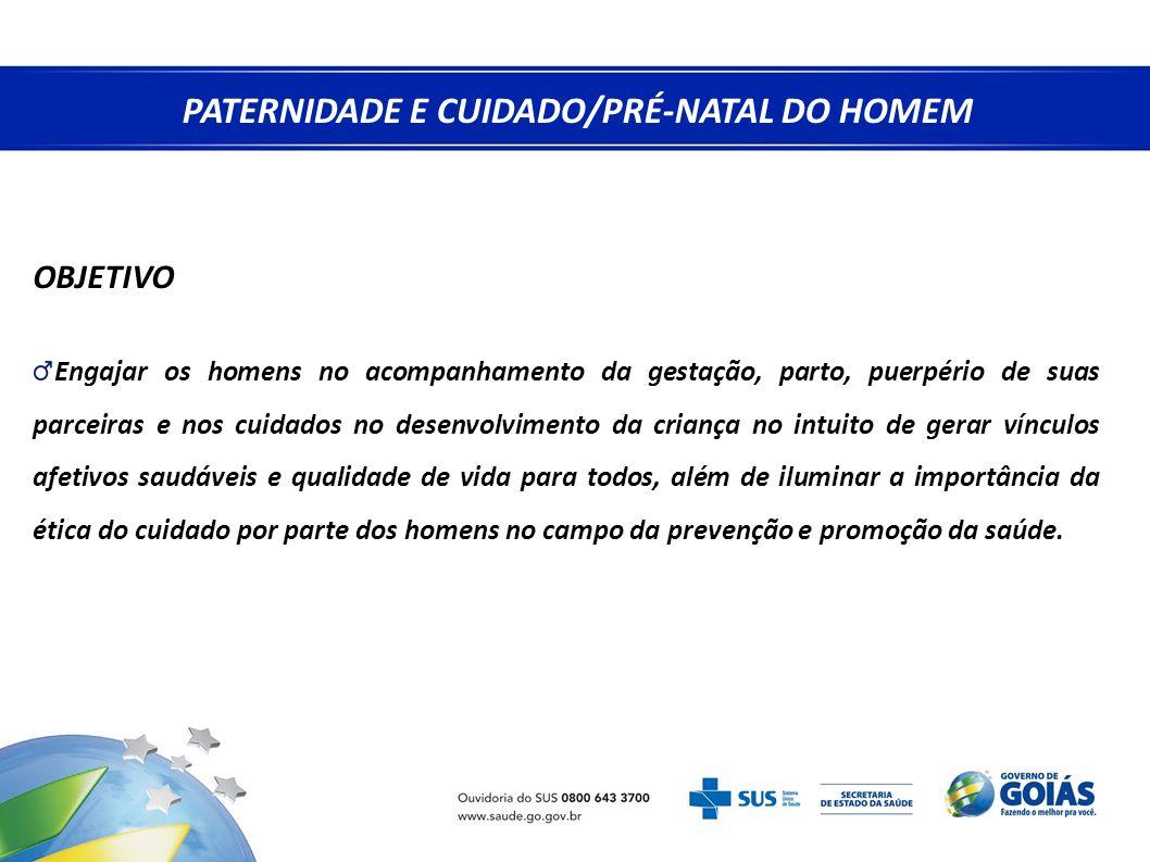 PATERNIDADE E CUIDADO/PRÉ-NATAL DO HOMEM
