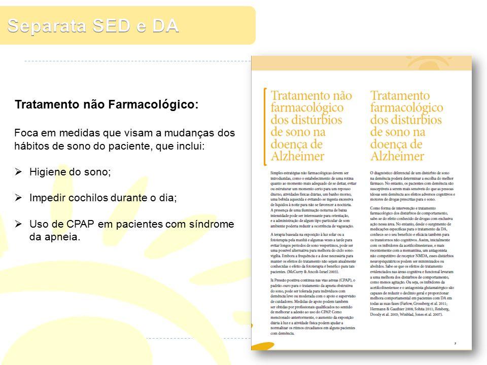 Separata SED e DA Tratamento não Farmacológico: