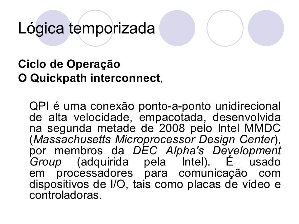 Lógica temporizada Ciclo de Operação O Quickpath interconnect,