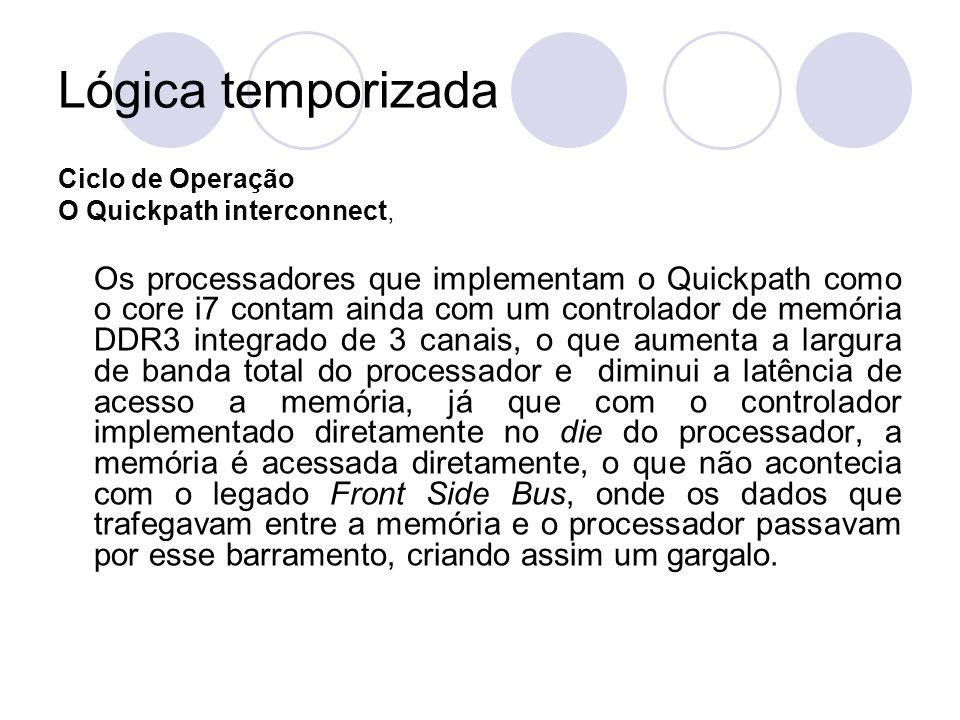 Lógica temporizada Ciclo de Operação. O Quickpath interconnect,