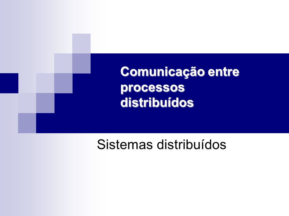 Comunicação entre processos distribuídos