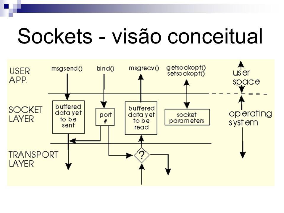 Sockets - visão conceitual