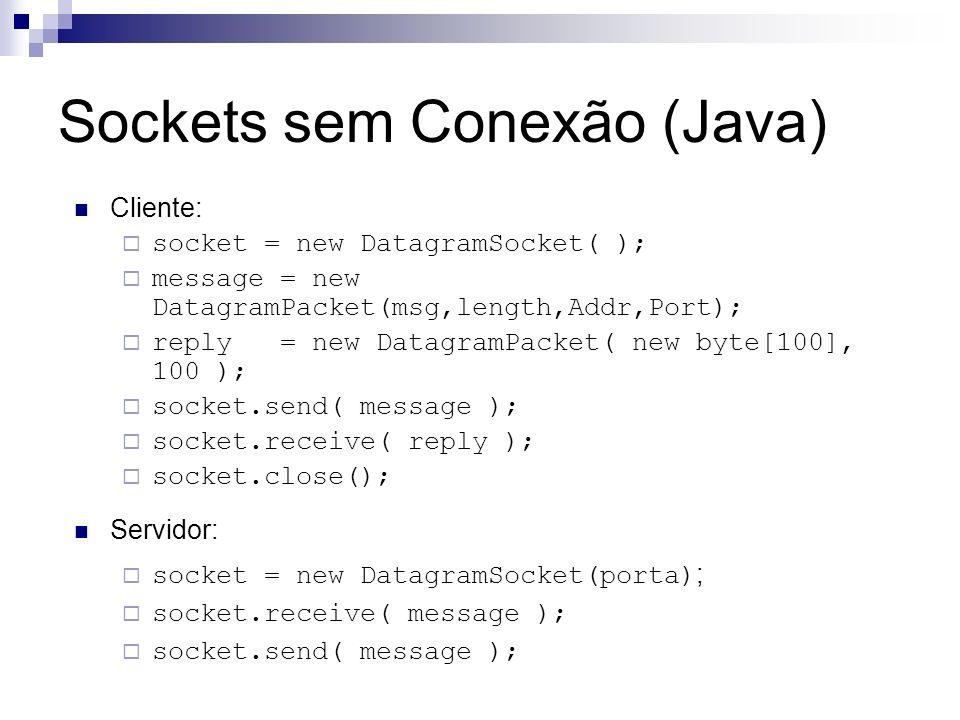 Sockets sem Conexão (Java)