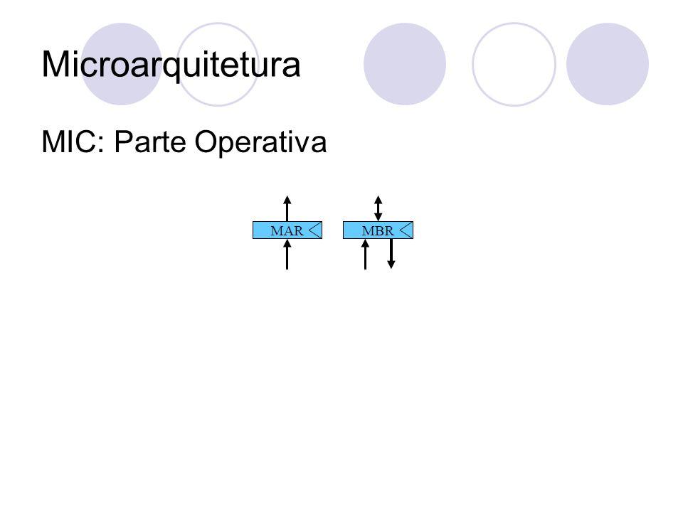 Microarquitetura MIC: Parte Operativa
