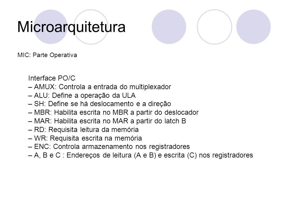 Microarquitetura – AMUX: Controla a entrada do multiplexador