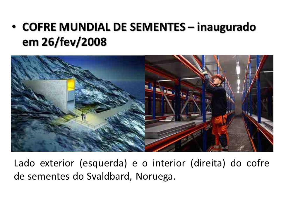 COFRE MUNDIAL DE SEMENTES – inaugurado em 26/fev/2008