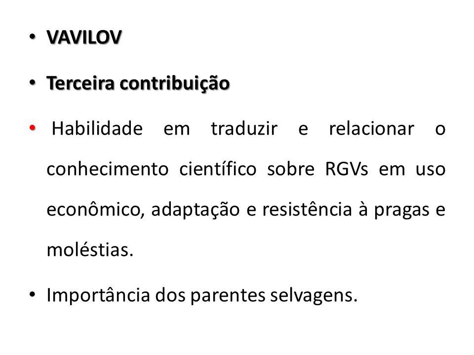 VAVILOV Terceira contribuição.