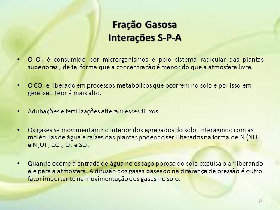 Fração Gasosa Interações S-P-A