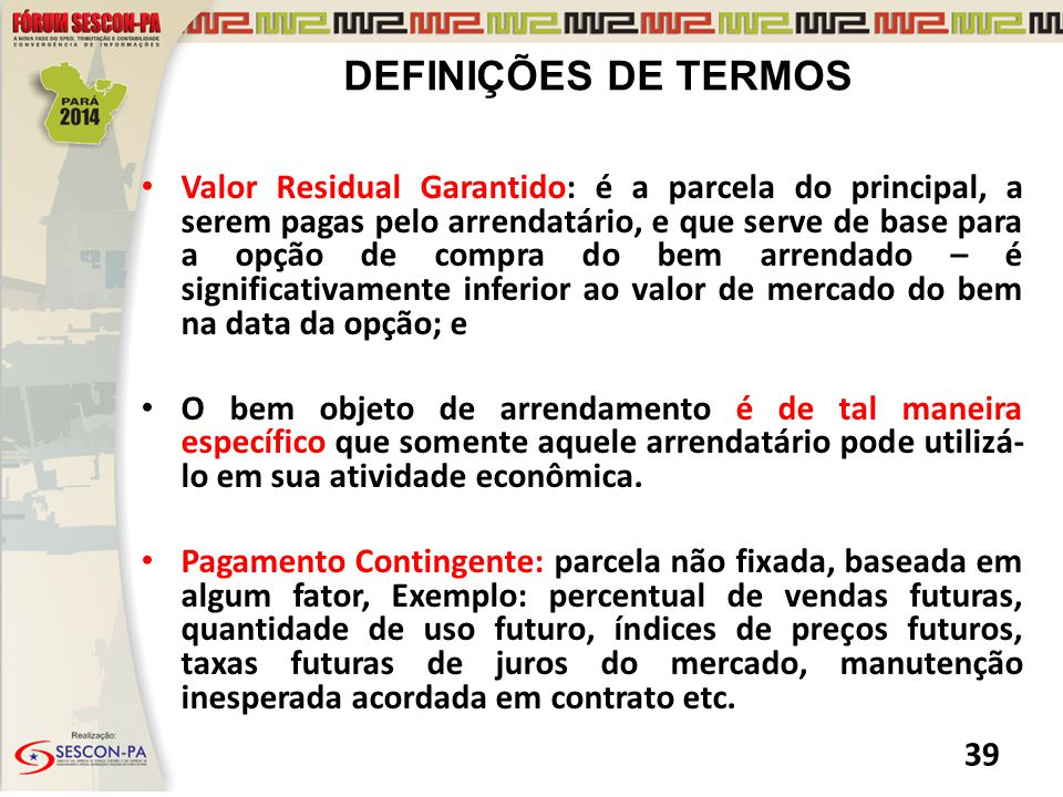 DEFINIÇÕES DE TERMOS