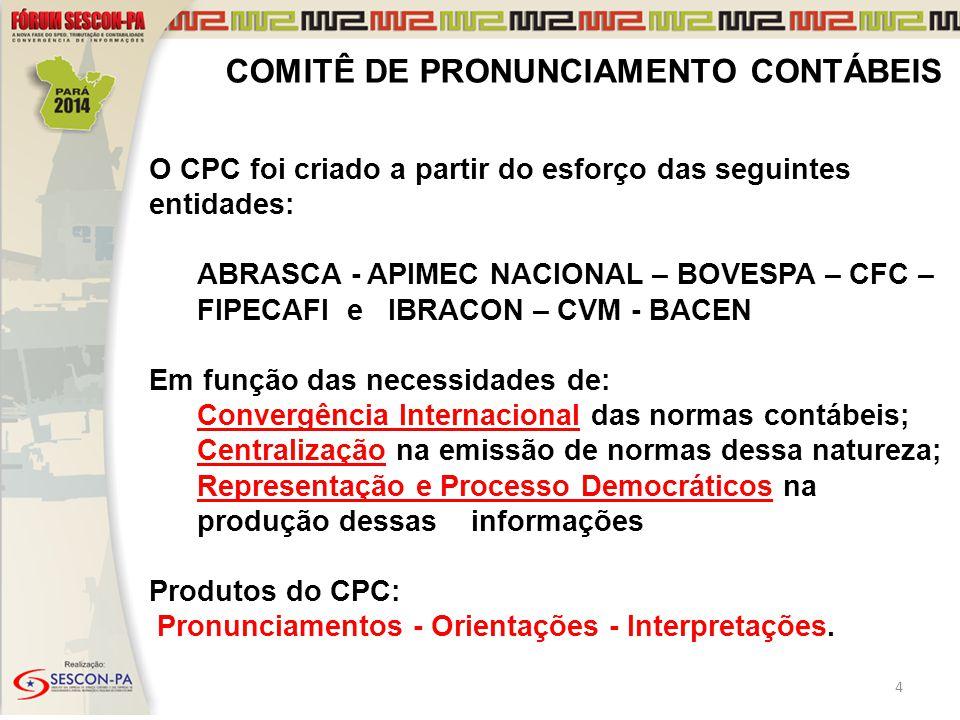 COMITÊ DE PRONUNCIAMENTO CONTÁBEIS
