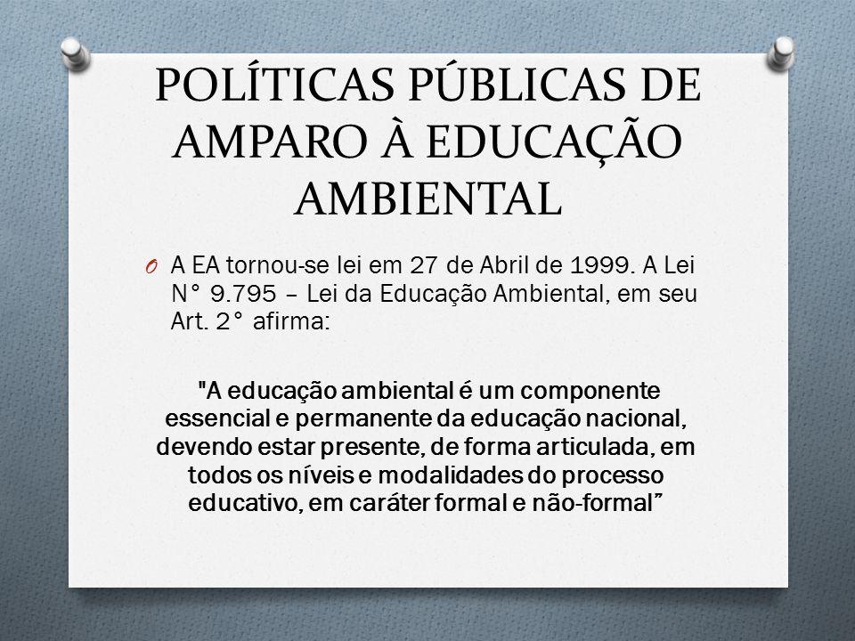 POLÍTICAS PÚBLICAS DE AMPARO À EDUCAÇÃO AMBIENTAL