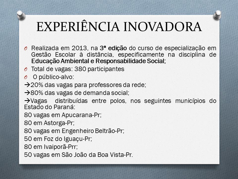 EXPERIÊNCIA INOVADORA