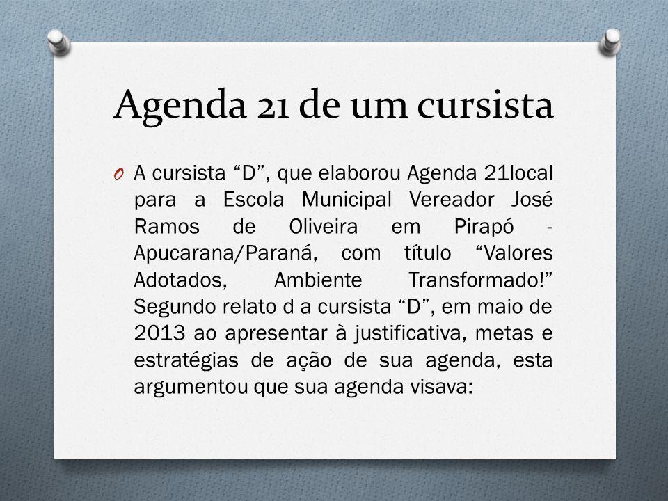 Agenda 21 de um cursista