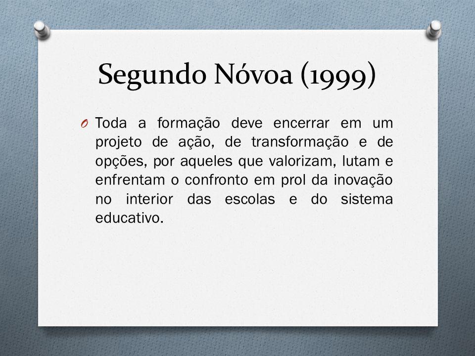 Segundo Nóvoa (1999)