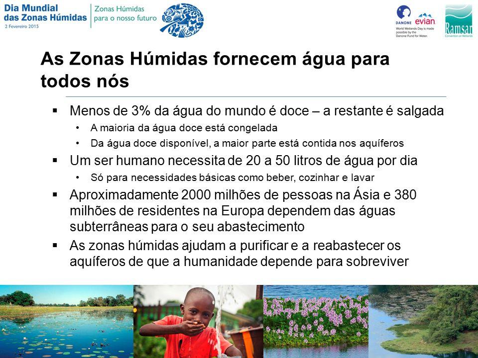 As Zonas Húmidas fornecem água para todos nós