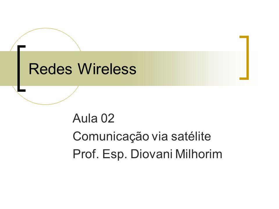Aula 02 Comunicação via satélite Prof. Esp. Diovani Milhorim