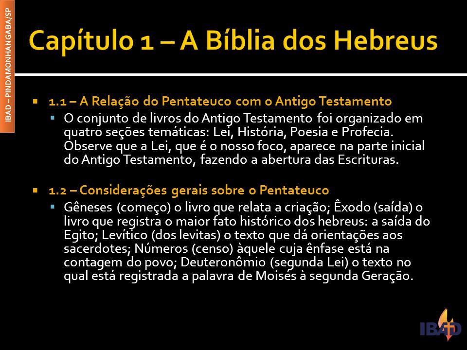 Capítulo 1 – A Bíblia dos Hebreus