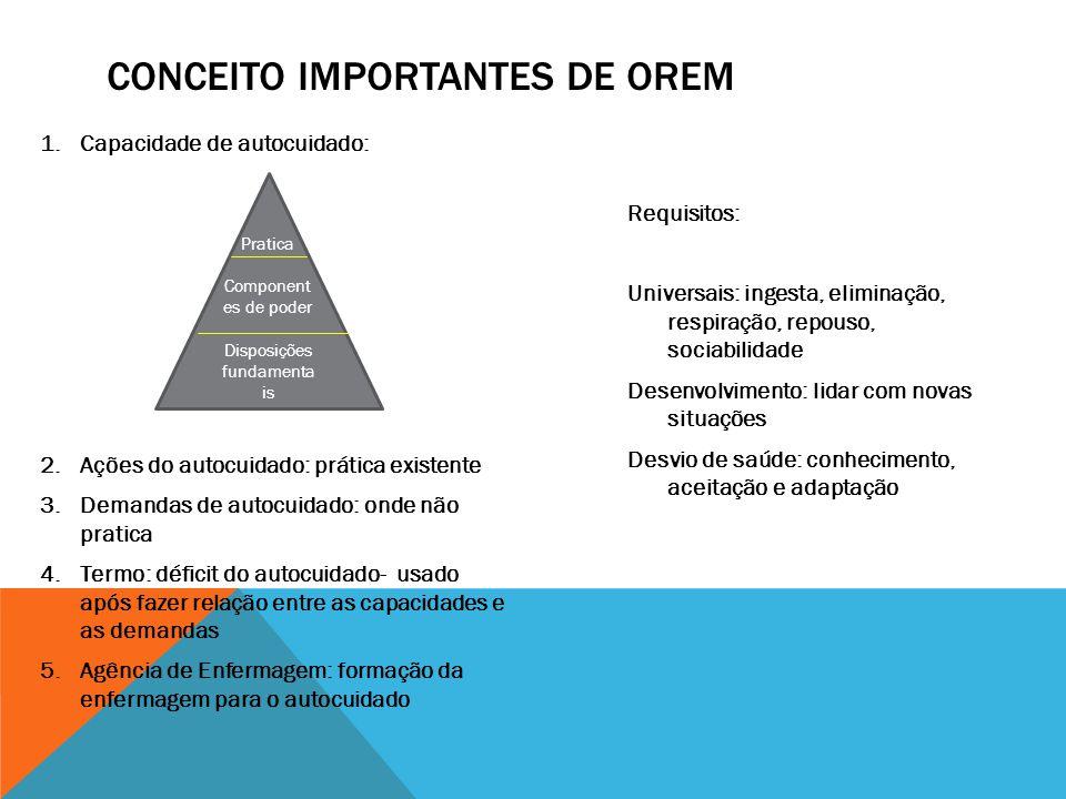 Conceito importantes de Orem