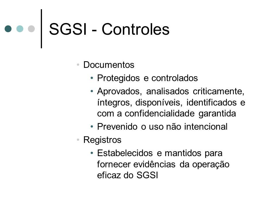 SGSI - Controles Documentos Protegidos e controlados