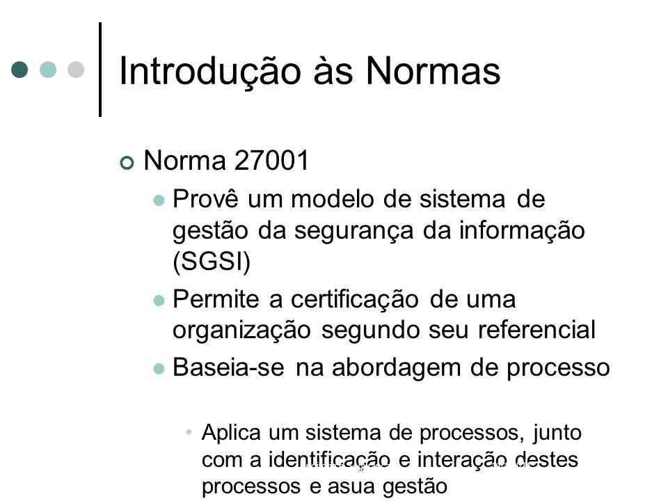 Introdução às Normas Norma 27001