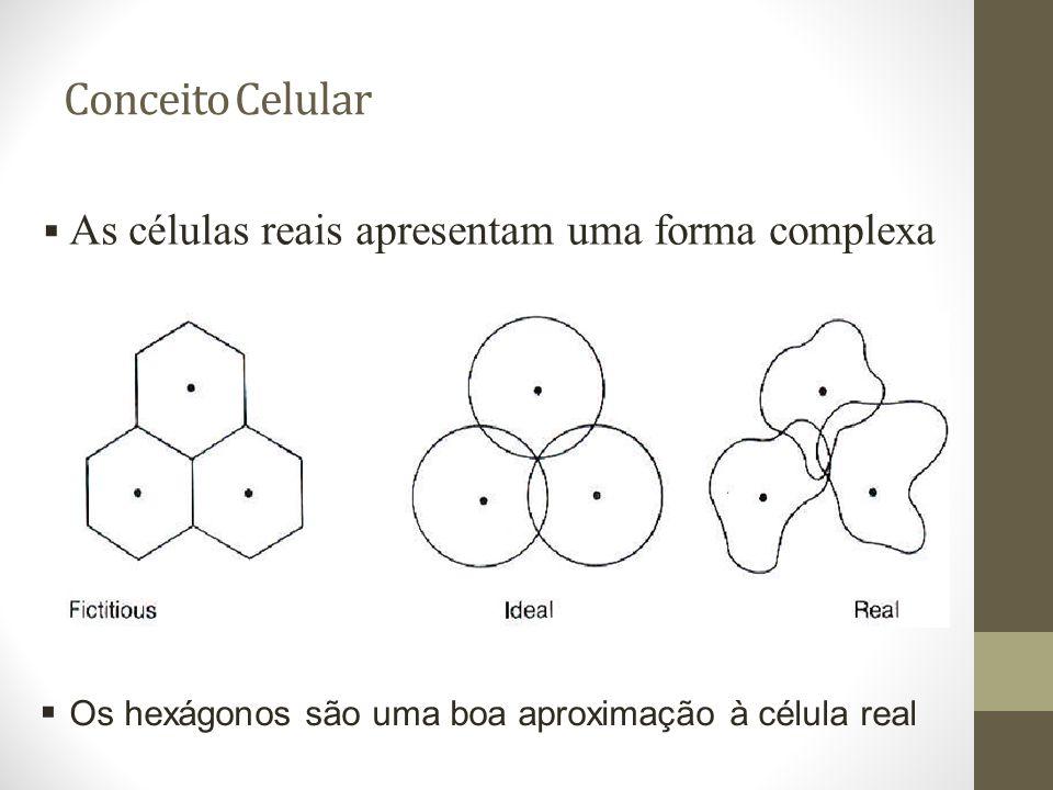 Conceito Celular As células reais apresentam uma forma complexa