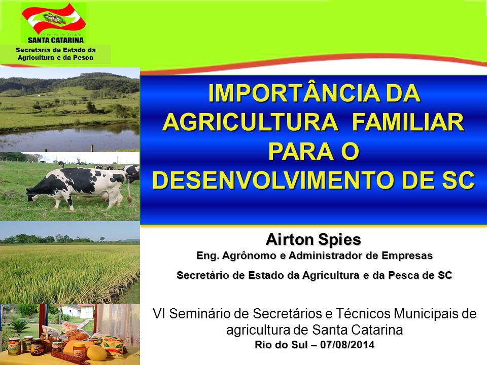 IMPORTÂNCIA DA AGRICULTURA FAMILIAR PARA O DESENVOLVIMENTO DE SC