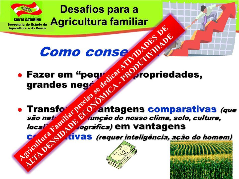 Desafios para a Agricultura familiar Como conseguir: