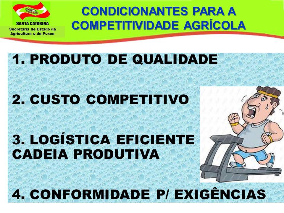 CONDICIONANTES PARA A COMPETITIVIDADE AGRÍCOLA