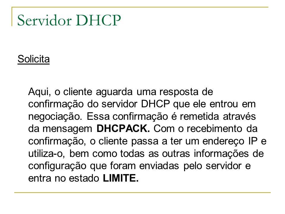 Servidor DHCP Solicita