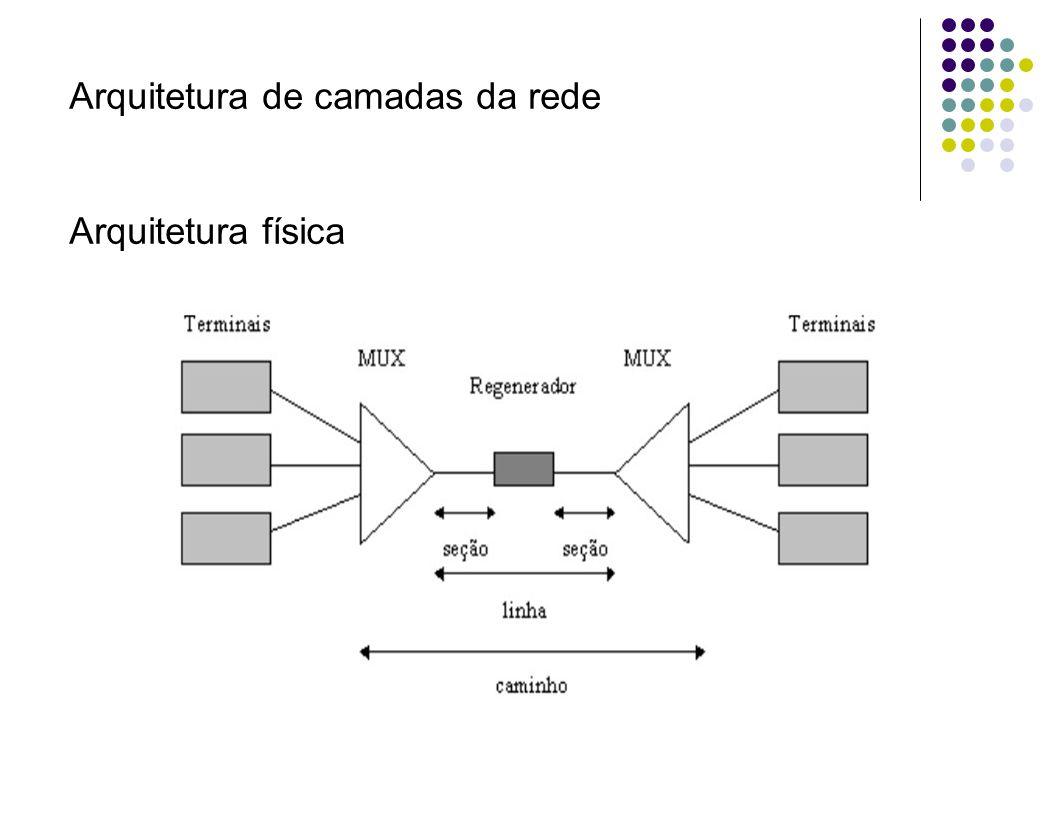 Arquitetura de camadas da rede