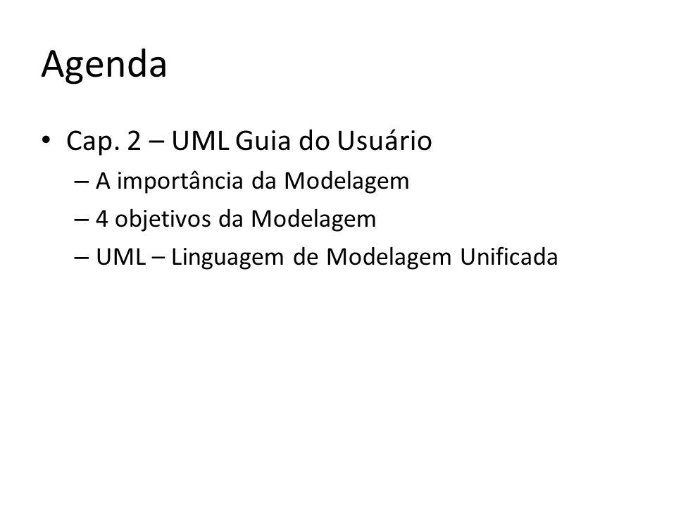 Agenda Cap. 2 – UML Guia do Usuário A importância da Modelagem
