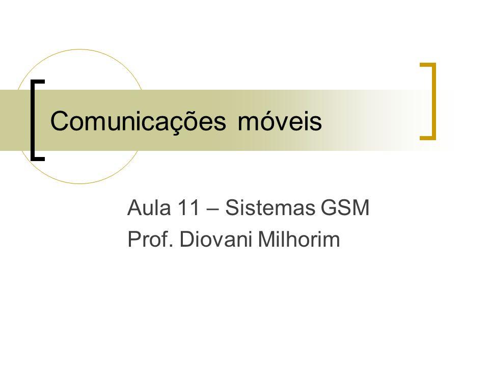 Aula 11 – Sistemas GSM Prof. Diovani Milhorim