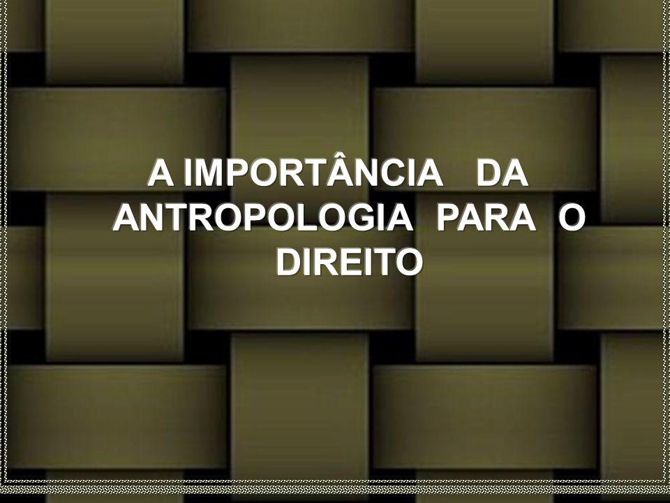 A IMPORTÂNCIA DA ANTROPOLOGIA PARA O DIREITO