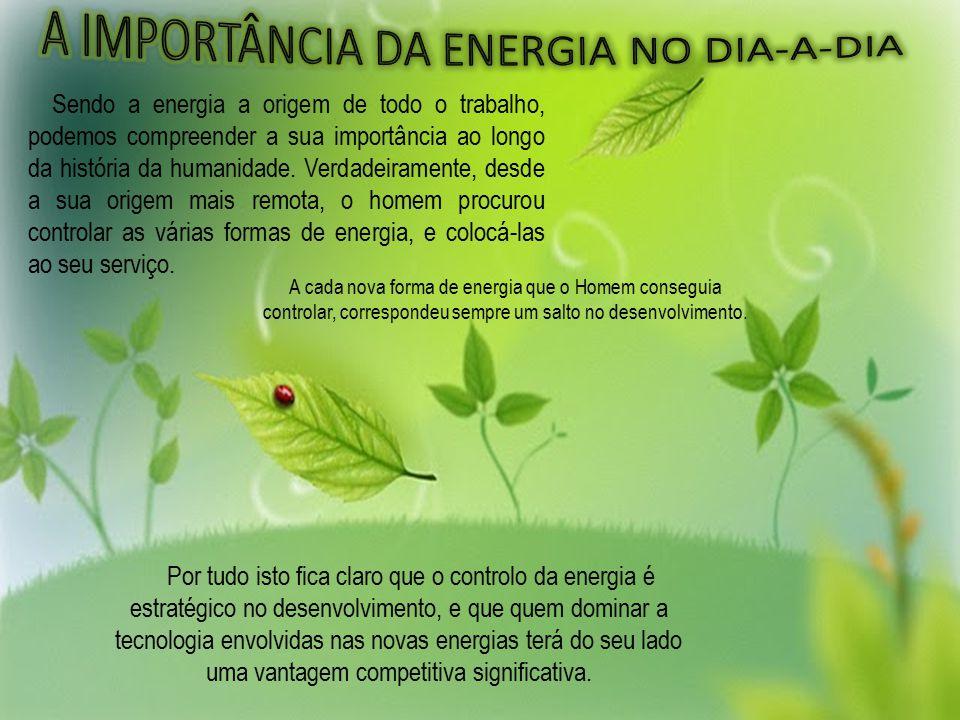 A IMPORTÂNCIA DA ENERGIA NO DIA-A-DIA