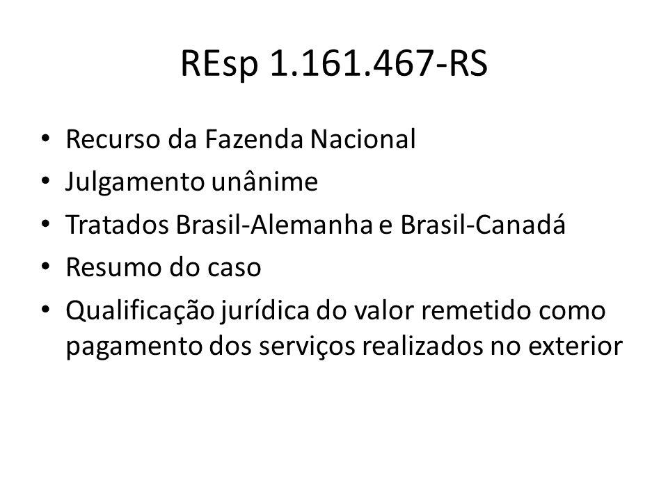 REsp 1.161.467-RS Recurso da Fazenda Nacional Julgamento unânime