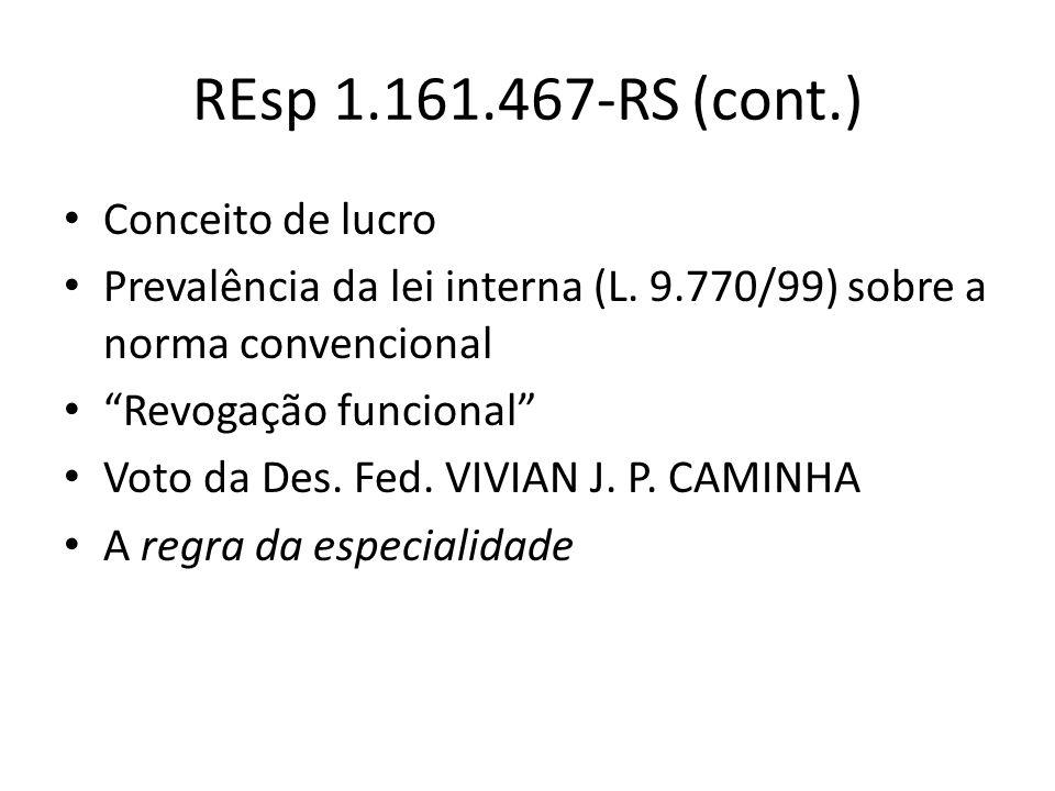 REsp 1.161.467-RS (cont.) Conceito de lucro