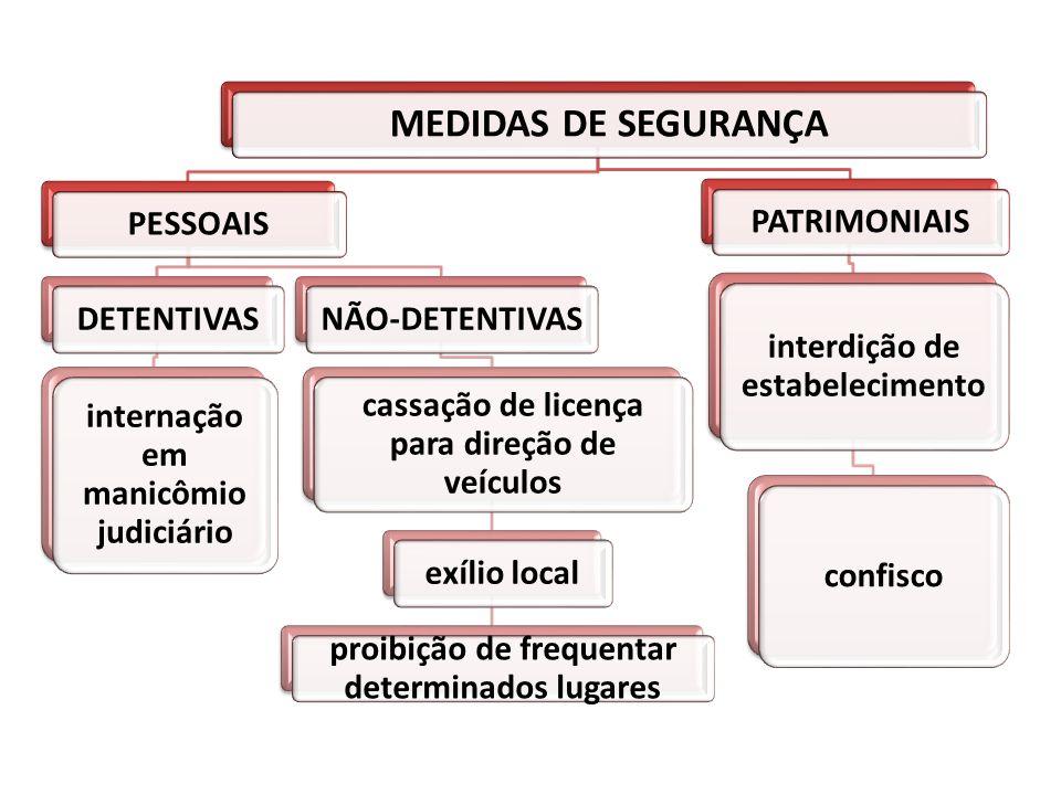 MEDIDAS DE SEGURANÇA PESSOAIS DETENTIVAS