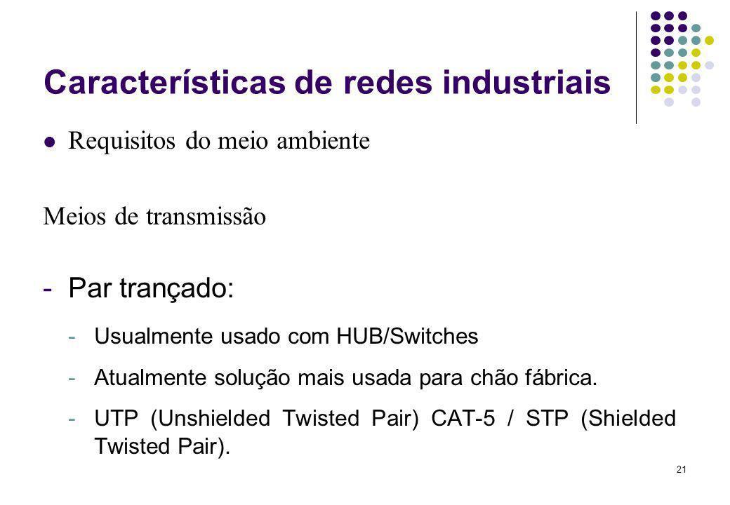Características de redes industriais