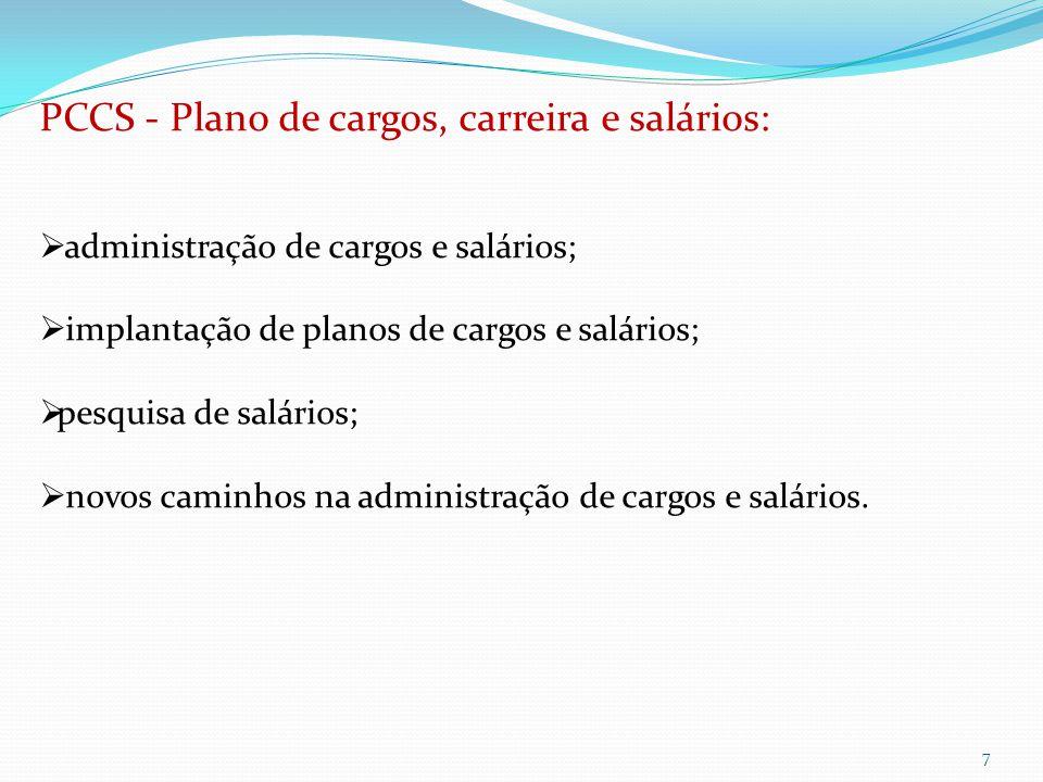 PCCS - Plano de cargos, carreira e salários: