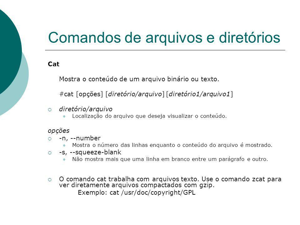 Comandos de arquivos e diretórios