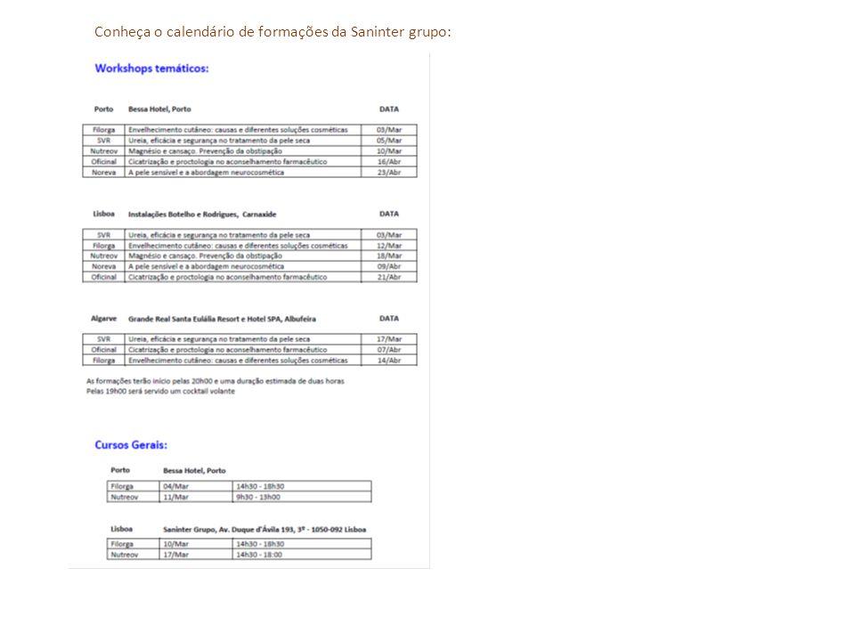 Conheça o calendário de formações da Saninter grupo:
