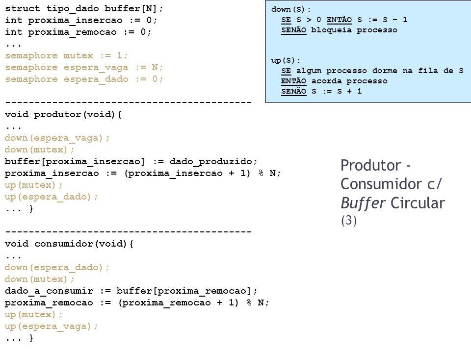 Produtor - Consumidor c/ Buffer Circular (3)