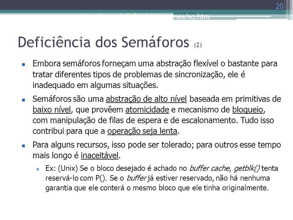 Deficiência dos Semáforos (2)