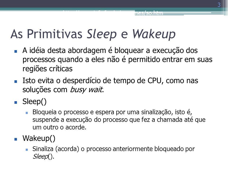 As Primitivas Sleep e Wakeup