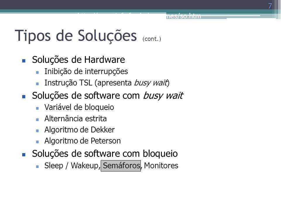Tipos de Soluções (cont.)