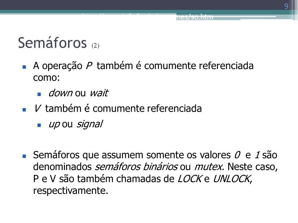 Semáforos (2) A operação P também é comumente referenciada como: