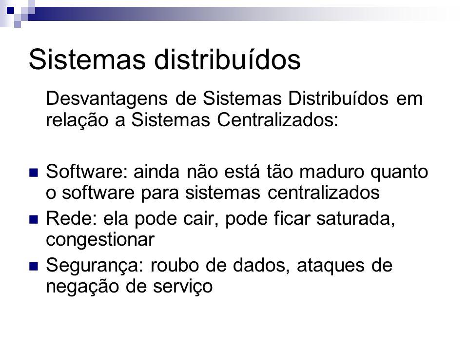 Sistemas distribuídos