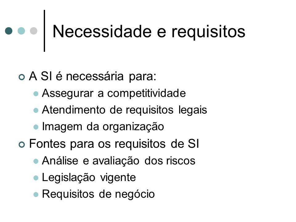Necessidade e requisitos