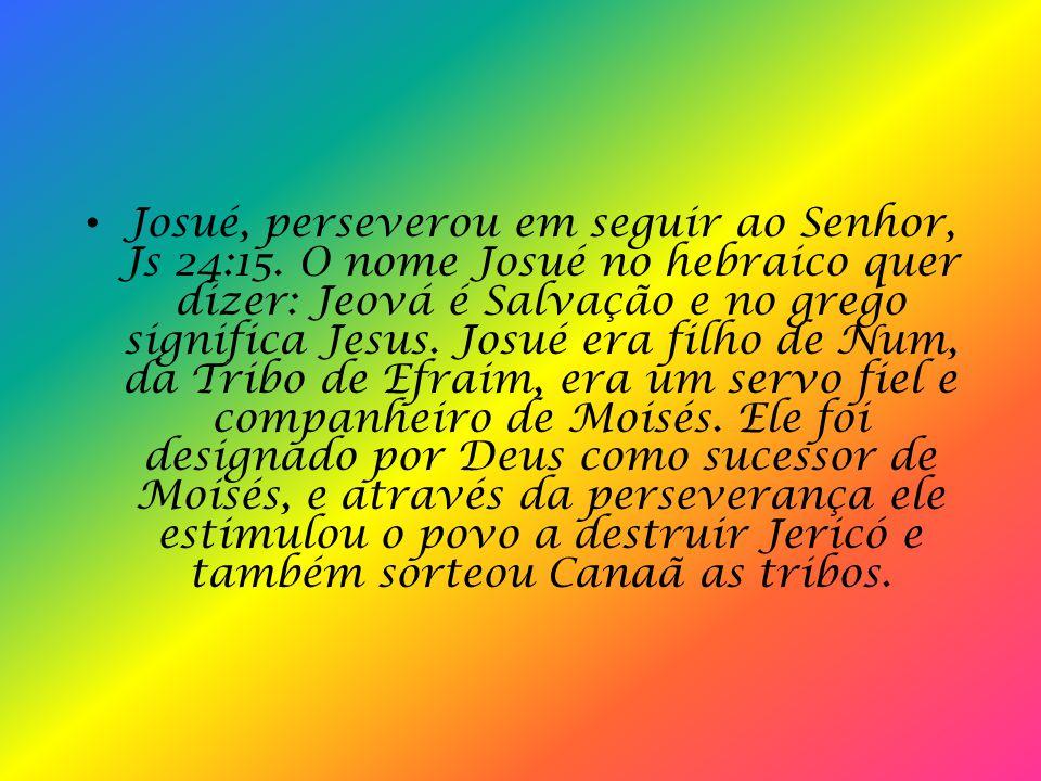 Josué, perseverou em seguir ao Senhor, Js 24:15